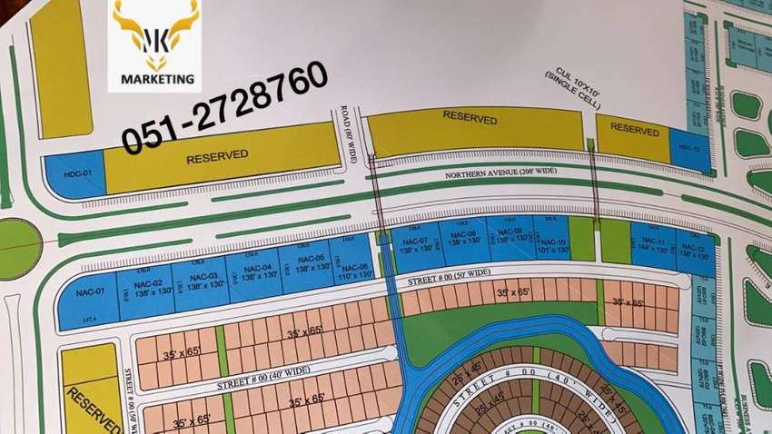 Blue world city 4 kanal commercial plot in Business square phase 1A 0