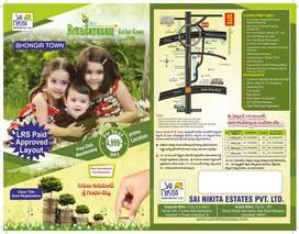 Lands and plots for sale at Bhongir with EMI's Option and Best Price