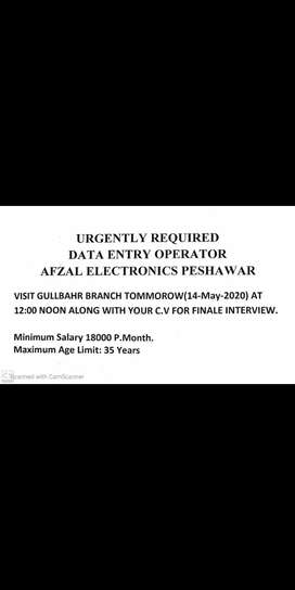 Computer operator Required Urgently
