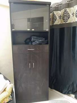Brand new wardrobe cum book shelves for urgent selling.