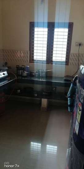 Single bedroom semi furnished independent house for rent in Ambalpady