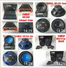 Paket Audio Carman ( Subwoofer , power , Split. )