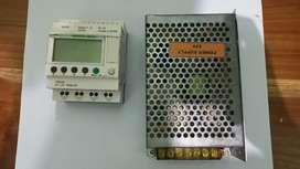 Dijual sepaket (PLC ZELIO SR2B121BD dan Power Supply 24Vdc)