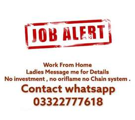 Work job available for ladies