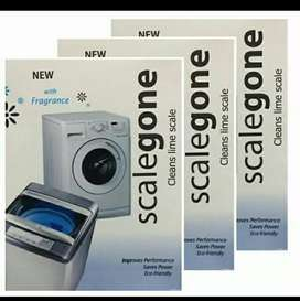 Washing machine service powder scalgon remuve to lime scal.