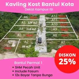 Tanah Dijual Bantul Kota Dekat Kampus ISI Barat Jl. Bantul