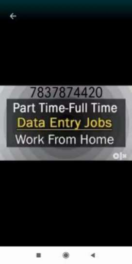 Part time job data typing work at home