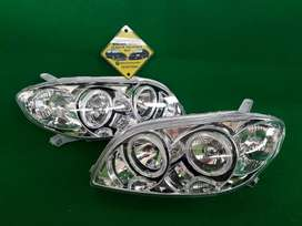 Headlamp Lampu Depan Angel Eyes Toyota Vios 2003 sd 2005