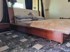 Master bed with side tables