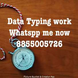 Home based English typing works. Earn as your wish