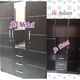JX MEBEL Lemari 3 Pintu Cermin Pku