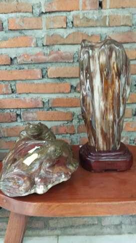 Pajangan batu alami mantap bos