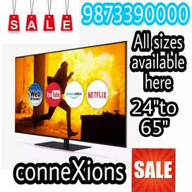 40 inch smart led tv with frameless display and Warranty 2 yr