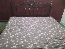 Metal bed with mattress