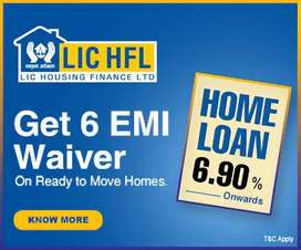 HOME LOAN 6.90% WITH 6 EMI OFF