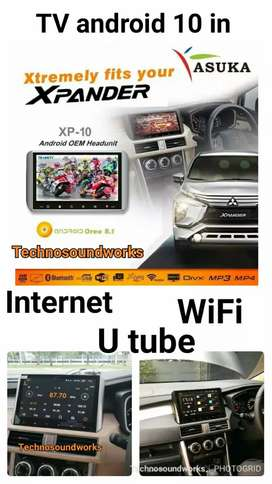 Tv mobil wifi Asuka X 10 SP 10 in for xpander new livina double 2din