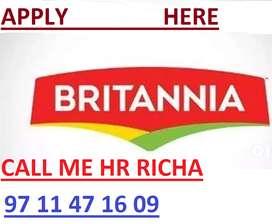 Hiring Britannia Full Time Job Apply in Helper,Store Keeper,Supervisor