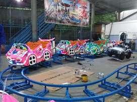 DAP mini roller coaster mainan ekskavator beko keruk capit bola
