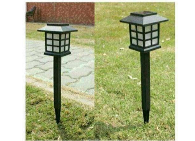 Lampu taman solar tancap 1 LED tenaga surya matahari klasik unik
