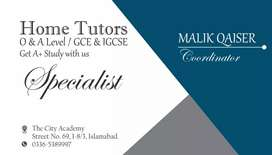 O and A Home tutors available Physics/Chemistry/Biology/Maths/Economic