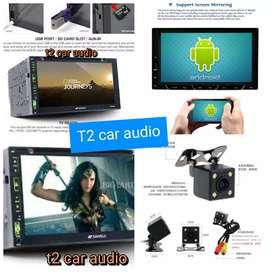 Terlaris 2din dvd android link SANSUI JAPAN full hd+camera hd asiik