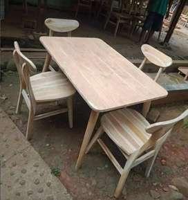 Meja makan Cafe Kayu Jati Cim
