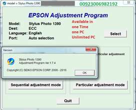 Epson Reset All Model Ink Pad Resetter Adjustment Softwar avail online