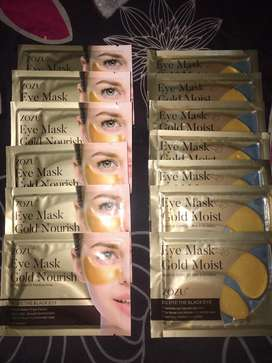 Maske kantung mata dan masker bibir