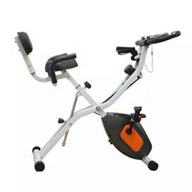 Sepeda statis lipat magnetik costa x bike central fitness official