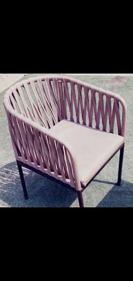 Synthetic cane chairs with metallic n marble tables 30000 for each set