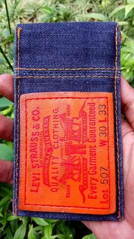 Dompet denim jeans..selvedge, asesoris