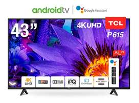 Big Discount TCL 43'' P615 UHD Smart Android LED TV.