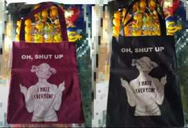 Lova KPOP / Tote Bag Shut'Up / Tas Slempang Wanita / TOTEBAG