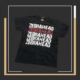 T-shirt Kaos Pria Second Branded band zebrahead Original Size S