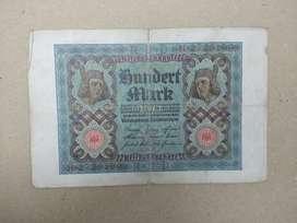 Uang kuno jerman 100 mark th 1920