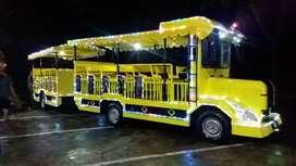 wahana mainan Odong odong EK kereta mini coaster wisata lampu hias LED