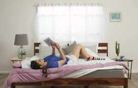 Sheesham wood solid wood Queen bed New construction with mattress.