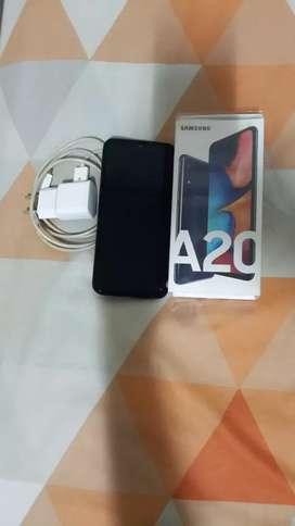Samsung A20 3/32 super amoled mulus lengkap no kendala siap pakai