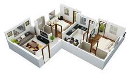 2 bhk flat for rent at karla square ; arvi road Wardha