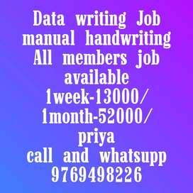 Simple hand writing Job New opening start
