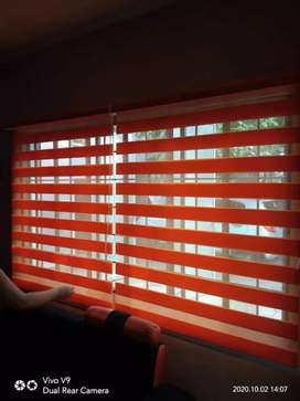 window blinds in natural orange colours