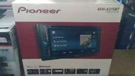 pasang doubledin pioneer AVH-A215BT  iphone card murah garansi