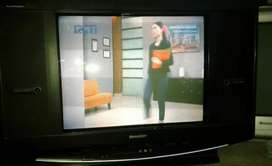 "TV  SHARP 21"" FLAT slim plus remot"