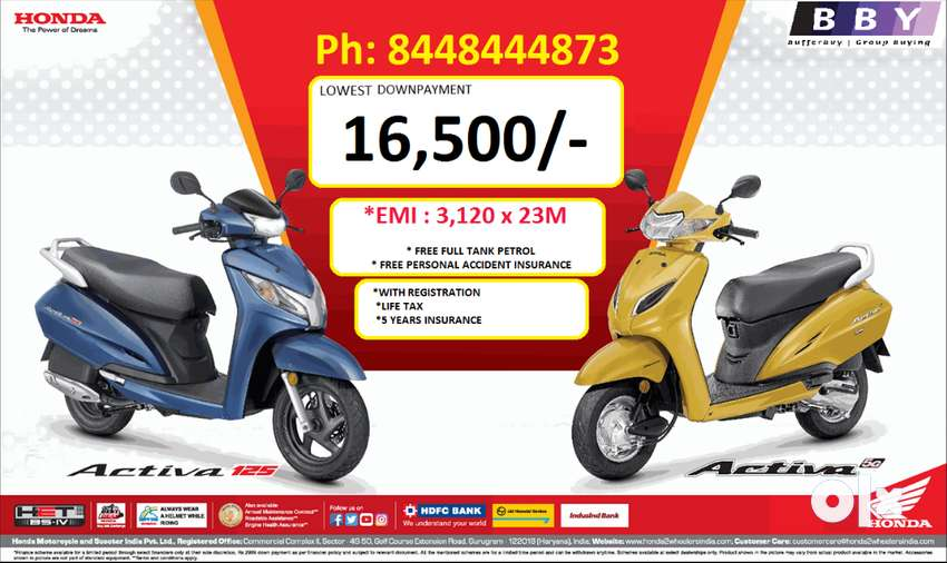 >HONDA ACTIVA 5G LOWEST RATE OF INTEREST 0