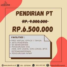 PENDIRIAN DAN PEMBUATAN PT, CV, PAKET LENGKAP + VIRTUAL OFFICE