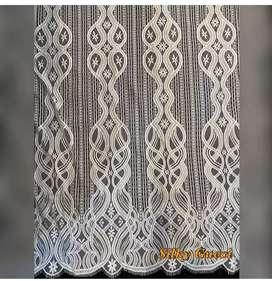 Brokat silky putih(khusus warna putih)