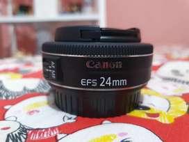 Lensa canon 24mm mulus dan normal