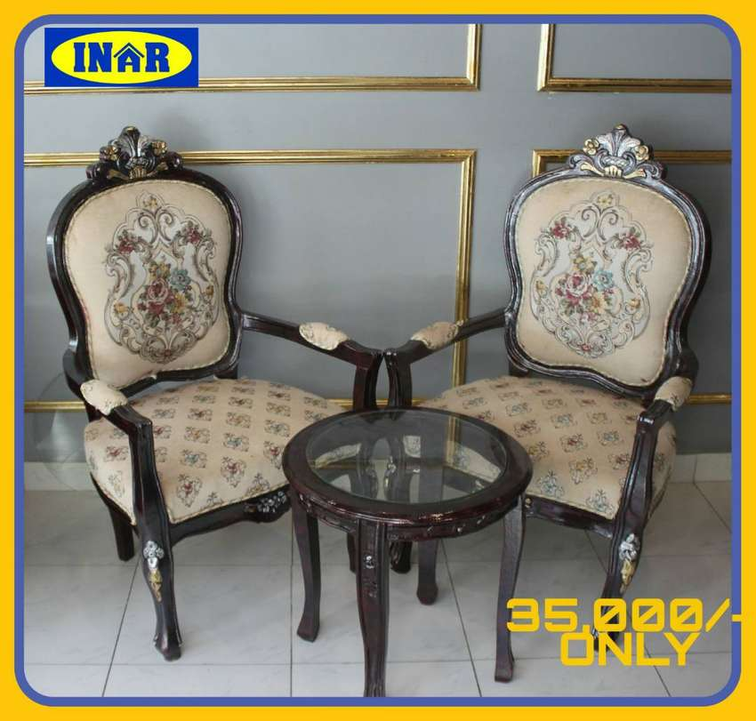 Bedroom Chair Sets w/ Coffee Tables & Divans in Rose Wood Sheesham 0