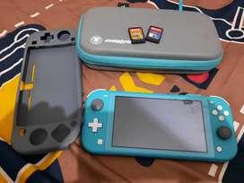 Nintendo switch lite + zelda & monster hunter