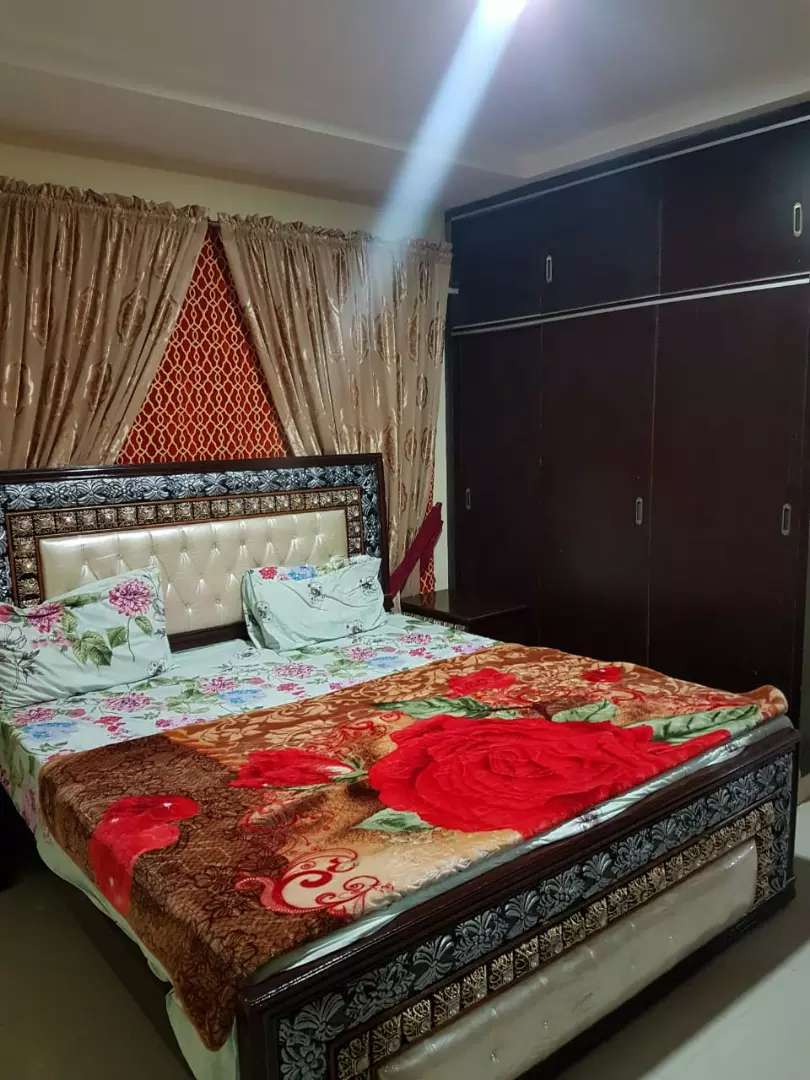 Two bedroom apartment fully furnished for rent in bahria twn 0